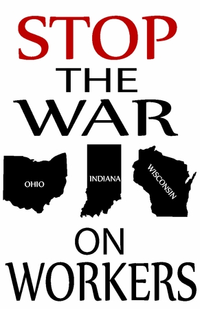 Stop The War on Workers Midwest T-Shirt