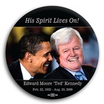 """Ted Kennedy Obama Button 3"""""""