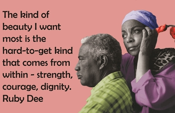 The Beauty Of Ossie Davis & Ruby Dee Poster