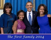 The First Family 2014 Wall Calendar -28 Pages Only 5!
