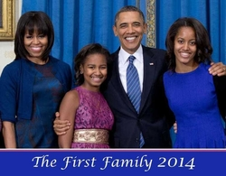 The First Family 2014 Wall Calendar -28 Pages Only 2!