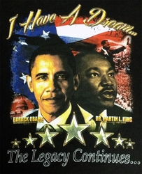 The Legacy Continues Obama and Martin Luther King Children's Shirt.