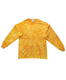 TIE DYE SPIDER LONGSLEEVE SHIRT - MULTIPLE COLORS AVAILABLE