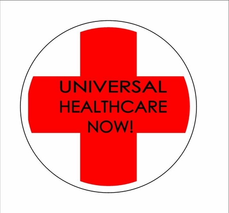 Universal Health Care Now Button