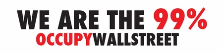 We Are The 99% Occupy Wall Street Bumper Sticker