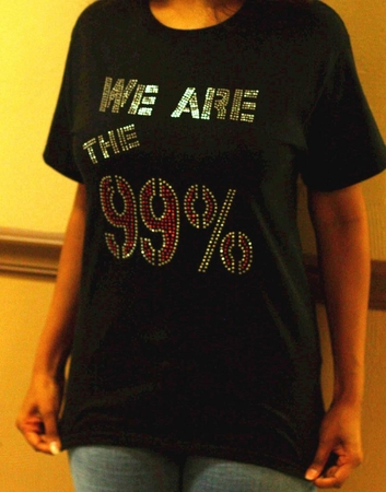 We Are The 99% Rhinestone Womens and Mens Shirts