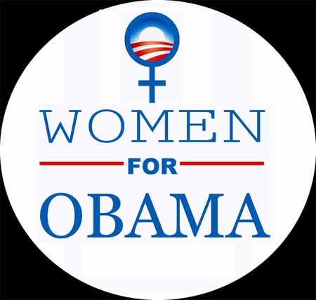 Women for Obama Blue Button