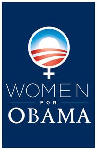 """Women for Obama Navy Blue Poster 11"""" x 17"""""""