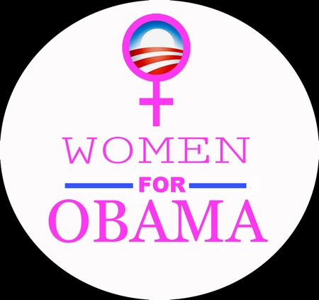 Women for Obama Pink Button