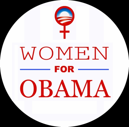 Women for Obama Red Button