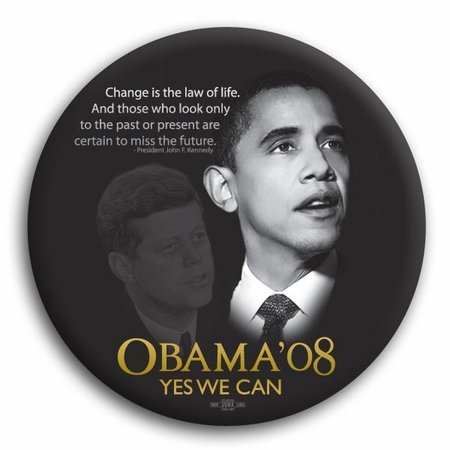 """Yes We Can"" Barack Obama / John F. Kennedy Magnet - 3"""