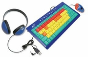 Califone Kids Combo - Headphones, Kids Keyboard & Mouse