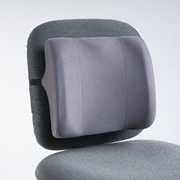 Fellowes High-Profile Backrest with Soft Brushed Cover, 13w x 4d x 12-5/8h, Graphite