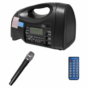 HamiltonBuhl PA System | Portable, USB, SD, FM, MP3 Includes Wireless Hand Held Mic