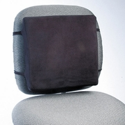Rubbermaid Back Perch with Fleece Cover, 13w x 2-3/4d x 12-1/2h, Black