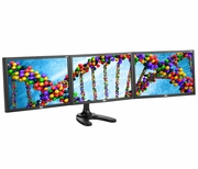 """Spacedec 24"""" LCD Monitor Freestanding Triple Display Stand"""