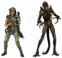 Aliens Helmeted Hudson vs Battle Damaged Brown Warrior Action Figure 2-Pack