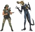 Aliens Hicks vs Battle Damaged Blue Warrior 2pk