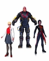 Electrocutioner Lady Shiva Harleen Quinzell Action Figure 3 Pk