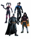 Harley Quinn Batman Nightwing Robin Action Figure 4 Pack