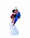 Superman Wonder Woman Holiday Kiss Mini Statue