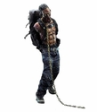 The Walking Dead Pet Zombie 1/6 Scale Action Figure Green Version