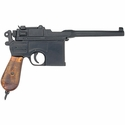 WWII 1896 Mauser Pistol Replica w/ Laquered Grips