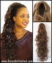 25 Inch Long  Curly Hair Piece