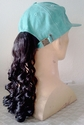 Baseball Cap with long curly ponytail