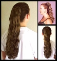 Coned Braid Ponytail