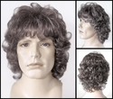 Leese<br> Synthetic Curly Man's Wig