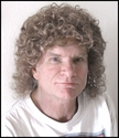 Curly Mullet Synthetic Man's Wig