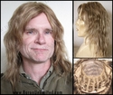 Dan --100% Human Hair  Mono-top Long Man's Wig