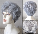 Anna Full Lace Grey Synthetic Wig - ONE LEFT
