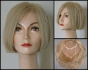 SALE<br> Human Hair Full Lace Bob Style Blonde