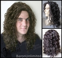 Olly <br>  Human Hair Synthetic BLEND Skin top Long Man's Wig