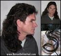 Jeff <br> Synthetic Curly Mullet Wig