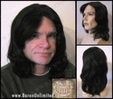 Jeffer --100% Human Hair  Mono-PART Long Man's Wig