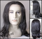 Caro -- Human Hair Synthetic BLEND Lace Front Man's Wig