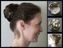 Large Braided Bun Bubble Synthetic Wiglet