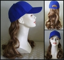 Long Synthetic Hair on Baseball Cap