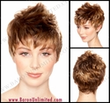 Molly Synthetic Fauxhawk Synthetic Wig