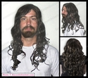 Obion <br> Long Wavy Curly Man's Long Wig