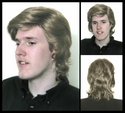 Piper <br> 70s Style Layered Man's Synthetic Wig