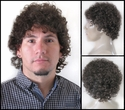 Nen <br> Human Hair short curly wig