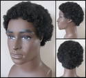 Small afro <br> Synthetic Man's Wig