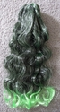 Synthetic claw clip ponytail Color green