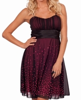 Chic Callie Dot Cocktail/Party Maternity Formal Dress