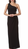 Chic Jenna One Shoulder Ruched Maternity Dress