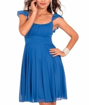 Chic Sarah Ruffle Empire Waist Cocktail Maternity Dress